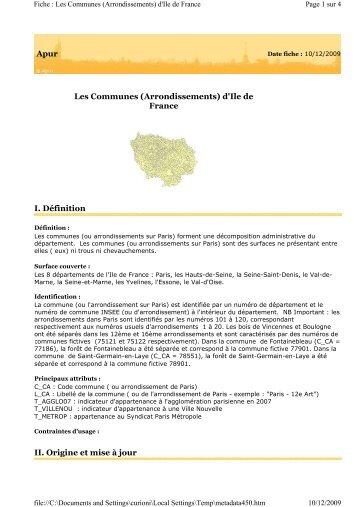 Limites administratives des communes et arrondissements - Apur