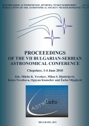 PROCEEEDINGS - astronomical observatory belgrade
