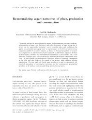 Re-naturalizing sugar: narratives of place, production and ...