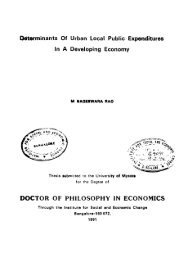 Determinants Of Urban Local Public Expenditures - Institute for ...
