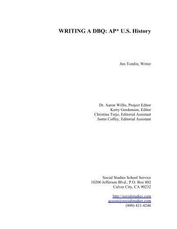 How do you write a dbq for AP US History?
