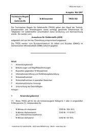 TRGS 552 - Bundesanstalt für Arbeitsschutz und Arbeitsmedizin