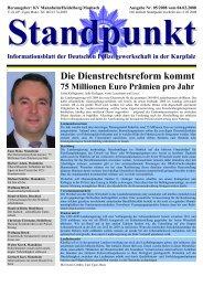 Standpunkt - Informationsblatt der Deutschen Polizeigewerkschaft