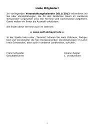 Liebe Mitglieder! - Verband für landwirtschaftliche Fachbildung in ...