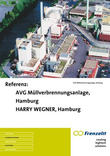 sondermüllverbrennung aVg hamburg - Frenzelit Werke GmbH