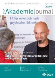 Schnittstellen zwischen Arbeitsschutz und Psychotherapie