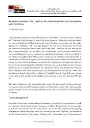 Michael Kopatz Nachhaltige Entwicklung: Das Leitbild für eine ...