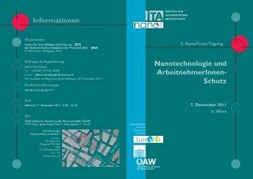 Nanotechnologie und ArbeitnehmerInnen- Schutz - NanoTrust