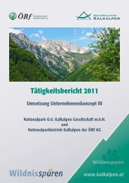 NPK Tätigkeitsbericht 2011 - Nationalpark Kalkalpen
