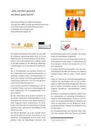 Gesundheitsmanagement im ABK - Abfallwirtschaftsbetrieb Kiel