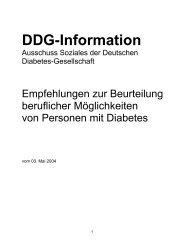 DDG-Information - Deutscher Diabetiker Bund Landesverband ...