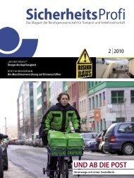 SicherheitsProfi 1/2010 - Berufsgenossenschaft für Transport und ...