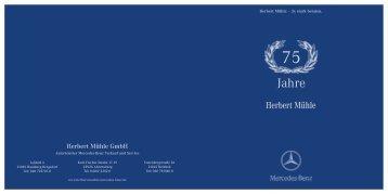 Herbert Mühle Jubiläumsheft als PDF downloaden(3,21MB