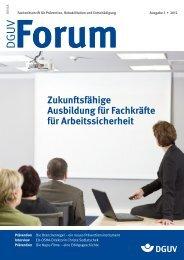 Ausgabe 3/12 - DGUV Forum