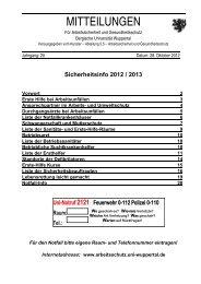 BUW Sicherheitsinfos - Dezernat 5 - Bergische Universität Wuppertal
