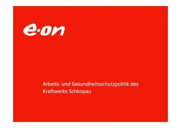 technischen Richtlinien - E.ON-Kraftwerk Schkopau