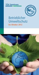 Betrieblicher Umweltschutz - TÜV Saarland Bildung + Consulting ...