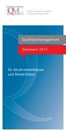 aktuellen Seminarprogramm - IQMG Institut für ...