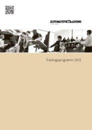 Trainingsprogramm 2012 - AutomotiveTraining & Consulting GmbH