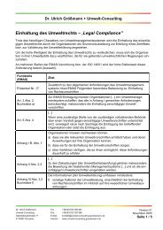 Einhaltung des Umweltrechts – 'Legal Compliance - Dr. Ulrich ...