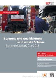 PDF herunterladen : Qualifizierung & Beratung rund ... - DB Training