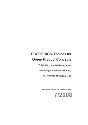 ECODESIGN-Toolbox for Green Product Concepts - Fabrik der Zukunft