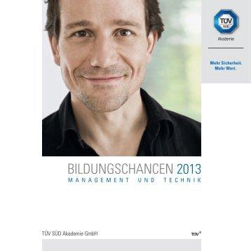 Jahresprogramm aus: 2013 - TÜV Süd