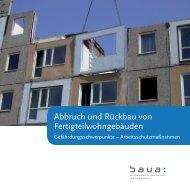 Abbruch und Rückbau von Fertigteilwohngebäuden - Bundesanstalt ...