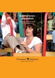 Erzieherinnengesundheit - Publikationen - Freistaat Sachsen