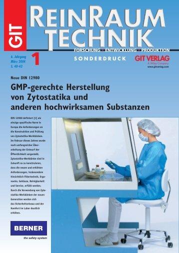 GMP-gerechte Herstellung von Zytostatika und anderen ...