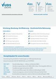 Schulung, Beratung, Zertifizierung – Kontinuierliche ... - UDS-Beratung