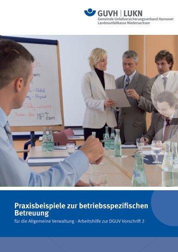 Praxisbeispiele zur betriebsspezifischen Betreuung - Gemeinde ...