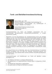 und Behälterinnenbeschichtung - Helmut Müller