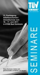 11. Fachtagung Arbeitssicherheit / Umweltschutz ... - reuschlaw.de