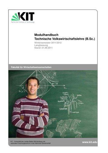 Modulhandbuch Technische Volkswirtschaftslehre (B.Sc.)