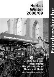 Die Gemeinde lädt ein - Evangelische Friedensgemeinde Bremen