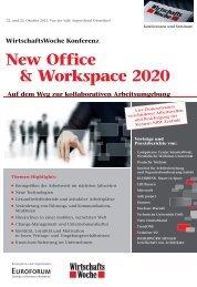 WirtschaftsWoche Konferenz New Office & Workspace 2020 Auf ...