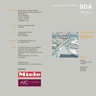 Bund Deutscher Architekten BDA - (BDA), Landesverband NRW