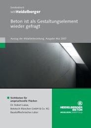 Sichtbeton für anspruchs volle Flächen - HeidelbergCement