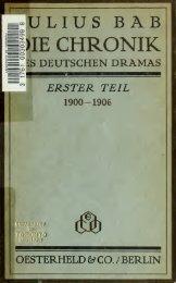 Die Chronik des deutschen Dramas