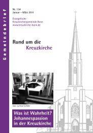Rund um die Kreuzkirche Was ist Wahrheit? - Kreuzkirche Bonn