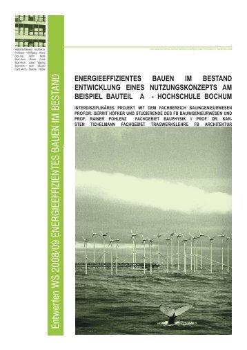 Aufgabe Entwurf WS 08-09-.indd - Hochschule Bochum