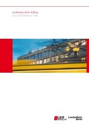 Konzern-Geschäftsbericht 2009 der Landesbank Berlin Holding