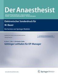 Göttinger Leitfaden für OP-Manager - ZARI
