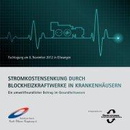 StromkoStenSenkung durch Blockheizkraftwerke in krankenhäuSern