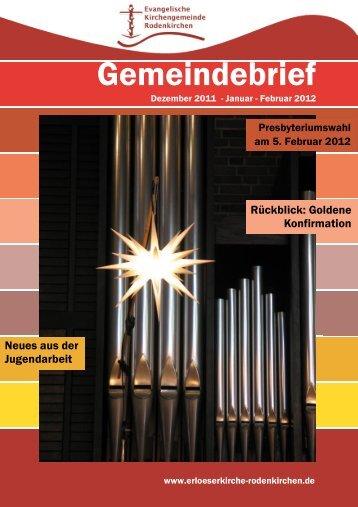 Frieden - Evangelischen Kirchengemeinde Rodenkirchen