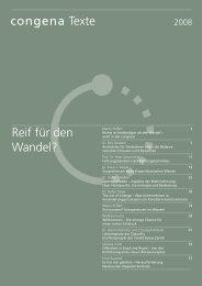 Kompetenzen im Wandel - congena GmbH