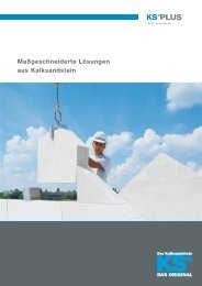 Maßgeschneiderte Lösungen aus Kalksandstein - KS* Original