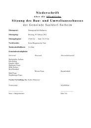 Sitzung des Bau- und Umweltausschusses - Gemeinde Saaldorf ...