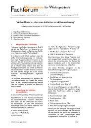 Protokoll AltbauModern (PDF) - Fachforum Wärmeschutz für ...